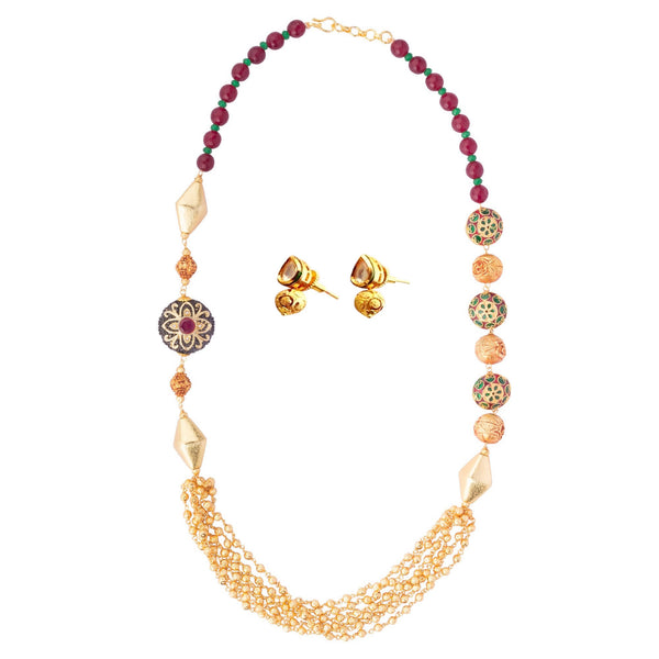 Multi-coloured Beaded Necklace Set