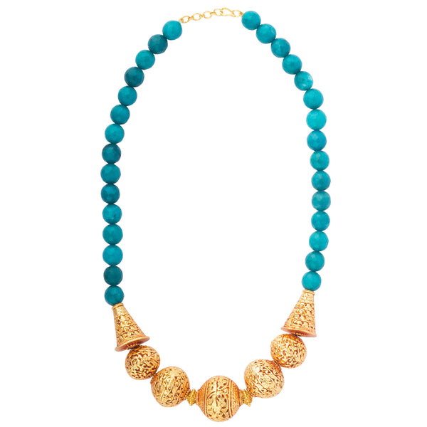 Temple Allure in Blue Necklace