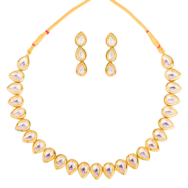 Kundan Drop Choker Necklace Set