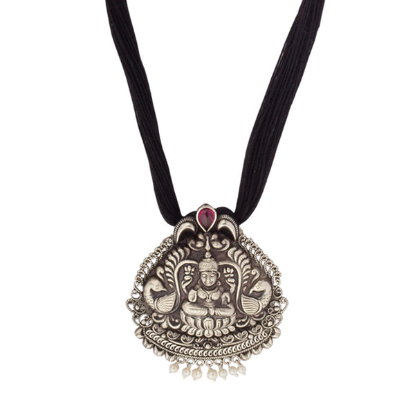 Divine Goddess Silver Necklace