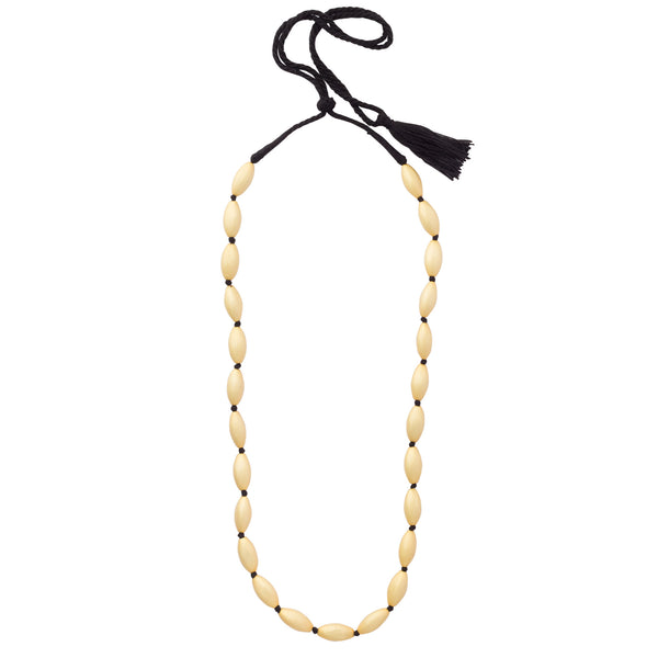 Smooth Dull Gold Gehu Necklace