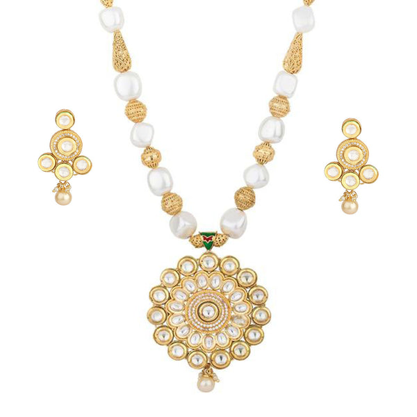 Ethnic Kundan Pearl Necklace