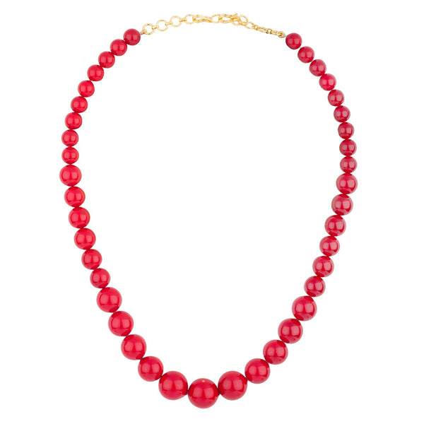 Red Shell Pearls Necklace