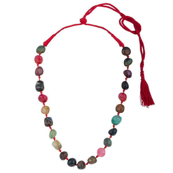 Multicolor Versatile Natural Agate Stone Necklace