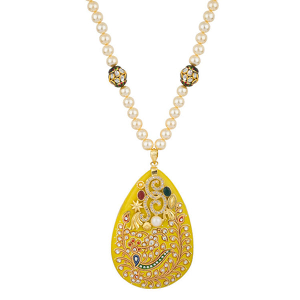 Tuscan Sun Yellow Royalty Pearl Necklace