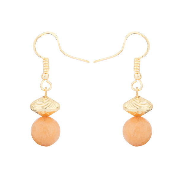 Peach and Gold Necklace Set