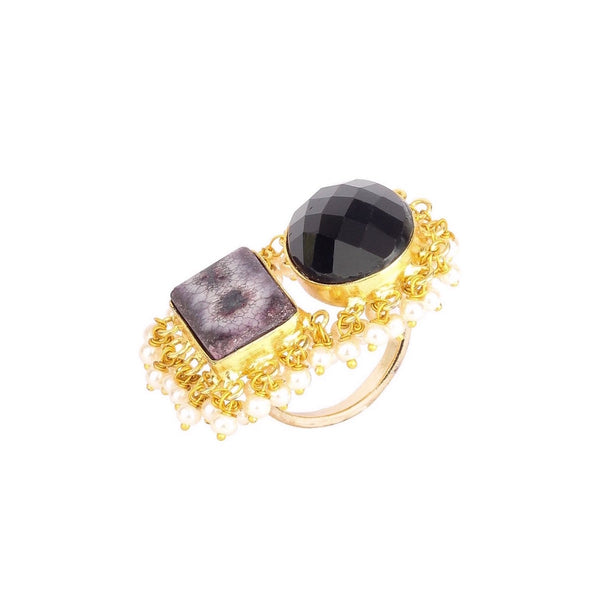Black Gemstone Ring
