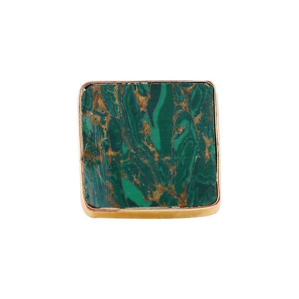 Green Semiprecious Stone Ring