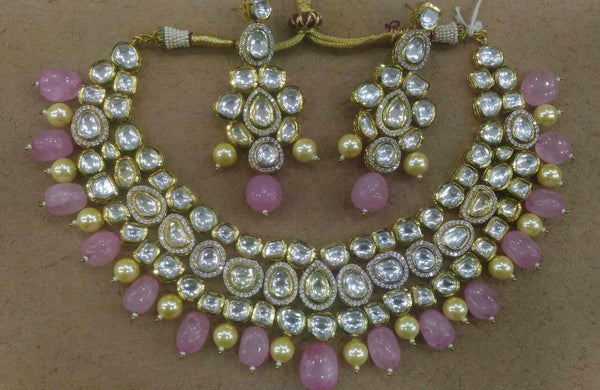 Gleaming Lady Touch in Kundan Layered Necklace Set