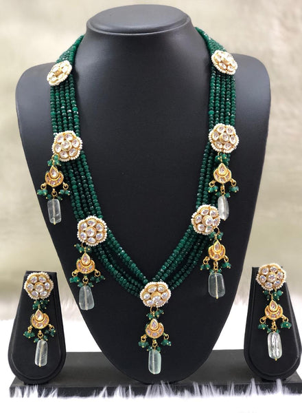 Gorgeous Green Gemstone Necklace Set