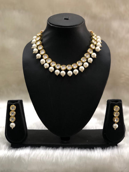 Fabulous Pearls and Kundan Choker Necklace Set