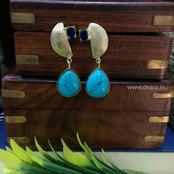 Jazzed-up Blue Firoza Earrings