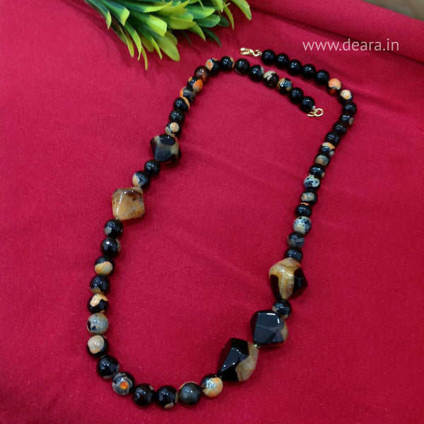 Magnificant Brown And Black Gemstones Necklace