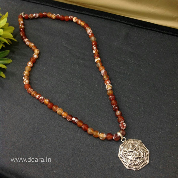 Superb Shades of Brown with Silver Pendant Necklace
