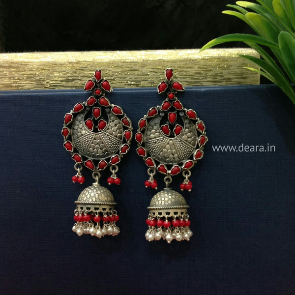 Versatile Long Silver Jhumka Long Earrings