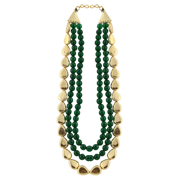 Green and Gold Choker Necklace