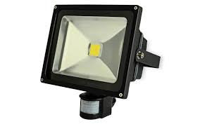 LED Floodlights Black IP65 with PIR
