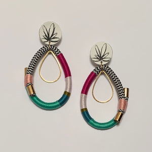 Run Rings Around Earrings - Peony