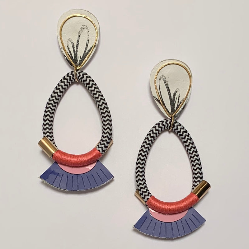 Three Ring Circus Earrings - Hibiscus