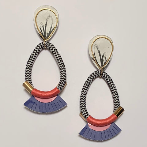 Ring A Ding Ding Earrings - Dahlia