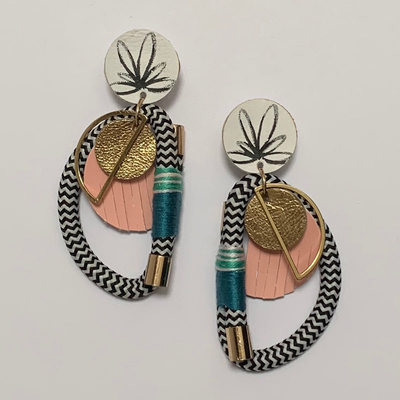 Put A Ring On It Earrings - Peony