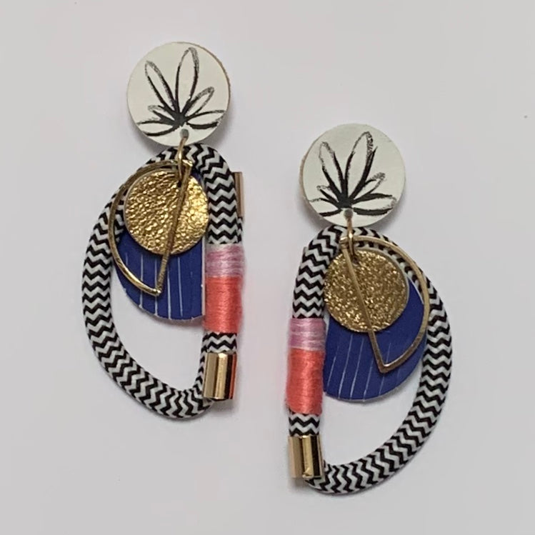 Put A Ring On It Earrings - Hibiscus
