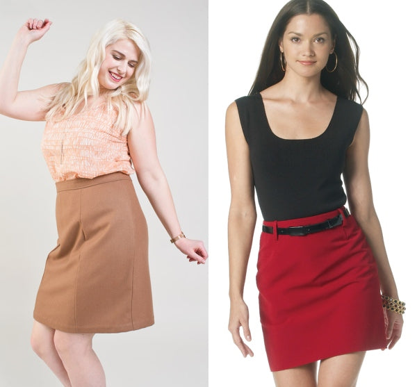 0f970b0b94 Unlike other skirt styles, the pencil skirt doesn't add bulk on the tummy  and can look good with untucked tops. High-waisted styles in structured  fabrics ...