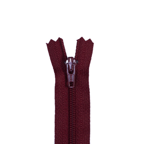 YKK Regular Zippers - Colour 527 (Burgundy)