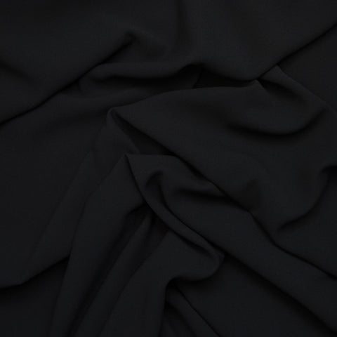 Sample of Sibylle Black Poly Crepe