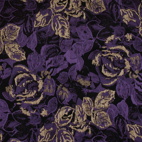 Sample of Purple, Gold and Black Brocade