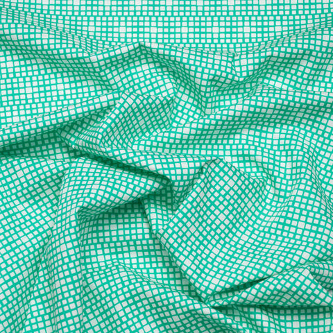 AGF Squared Elements Kings Road Turquoise Broadcloth - 112 cm Remnant