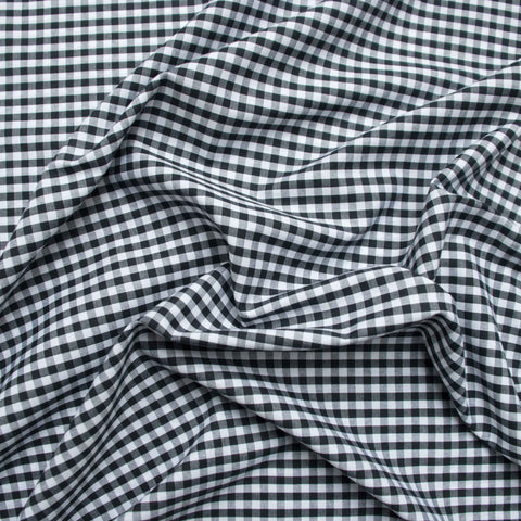 Black and White Gingham - 155 cm Remnant