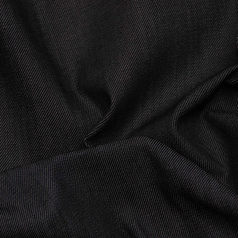 Black Stretch Denim (10 oz) - 25 cm Remnant