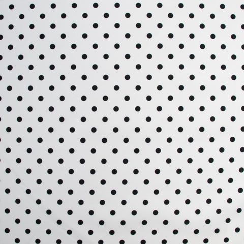 Sample of Sabine Black on White Small Polkadots Poplin