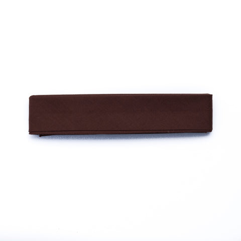 25mm-Wide Brown Single-Fold Bias Binding