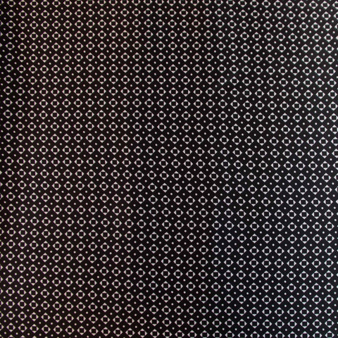 Squares and Dots Black and White Viscose Lining