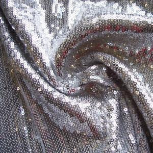 Sample of Lucia Silver Sequinned Knit