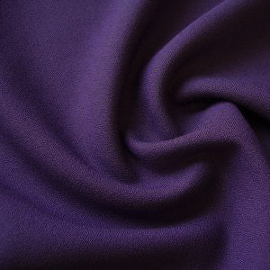 Sample of Isobel Purple Poly-Viscose Crepe