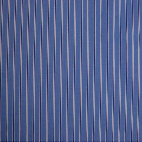 Sample of Blue, Navy and White Striped Shirting