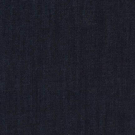 Sydney Dark Navy Stretch Denim - 47 cm Remnant