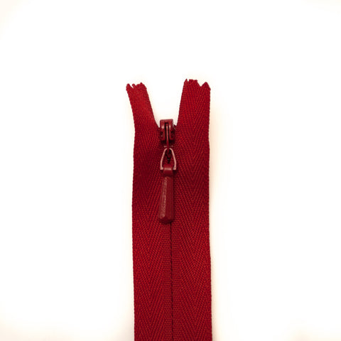 YKK Concealed Zippers - Colour 519 (Red)
