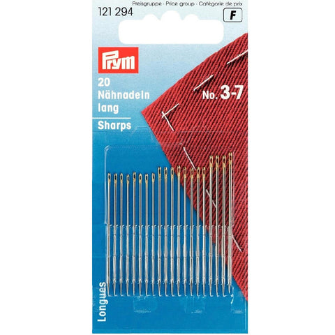 Prym Hand Sewing Needles - Sizes 3, 5, and 7