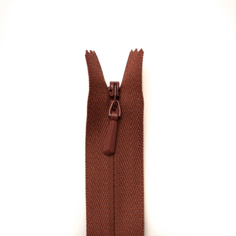 YKK Concealed Zippers - Colour 855 (Pale Brown)