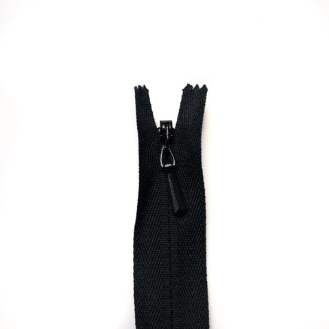 YKK Concealed Zippers - Colour 580 (Black)