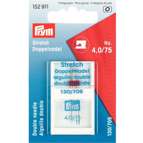 Prym Double Stretch Needle - 4 mm Spacing