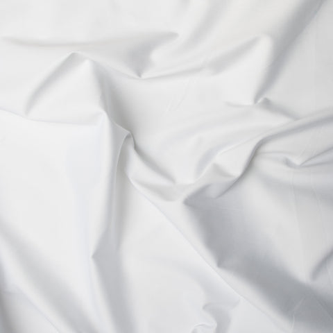 Leonore White Sateen - 257 cm Remnant (Small Flaws)