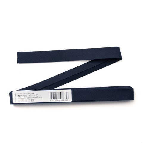 12mm-Wide Navy Single-Fold Bias Binding