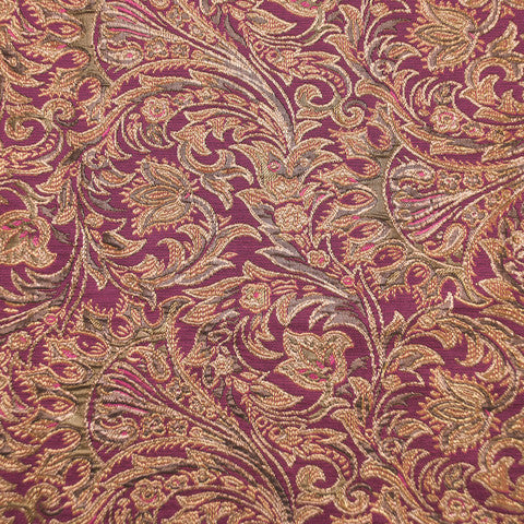 Sample of Pink and Gold Brocade