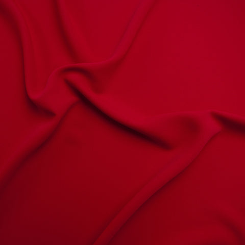 Sample of Sibylle Red Poly Crepe