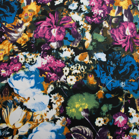 Dark Floral Sateen